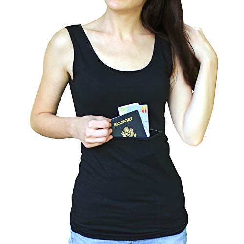 Clever Travel Companion Unisex Tank top with secret pocket