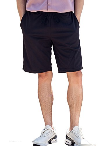 Mens Shorts Quick Dry Travel Shorts with Zipper and Hidden Stash Pockets