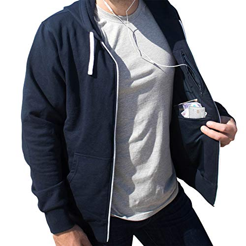 Unisex Travel Hoodie with 4 Secret Hidden Pockets