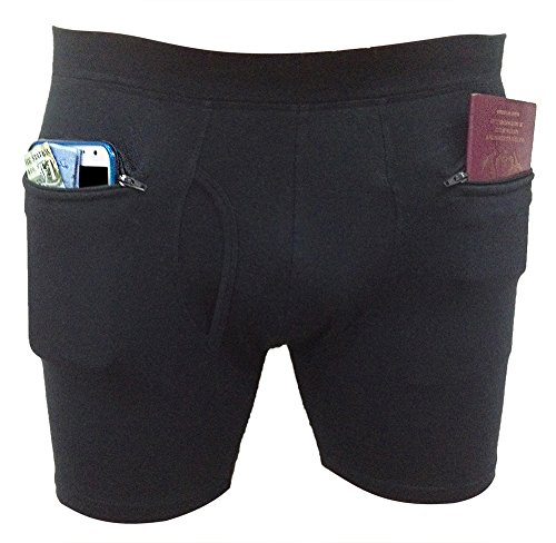Clever Travel Companion Men's Underwear with Secret Pocket