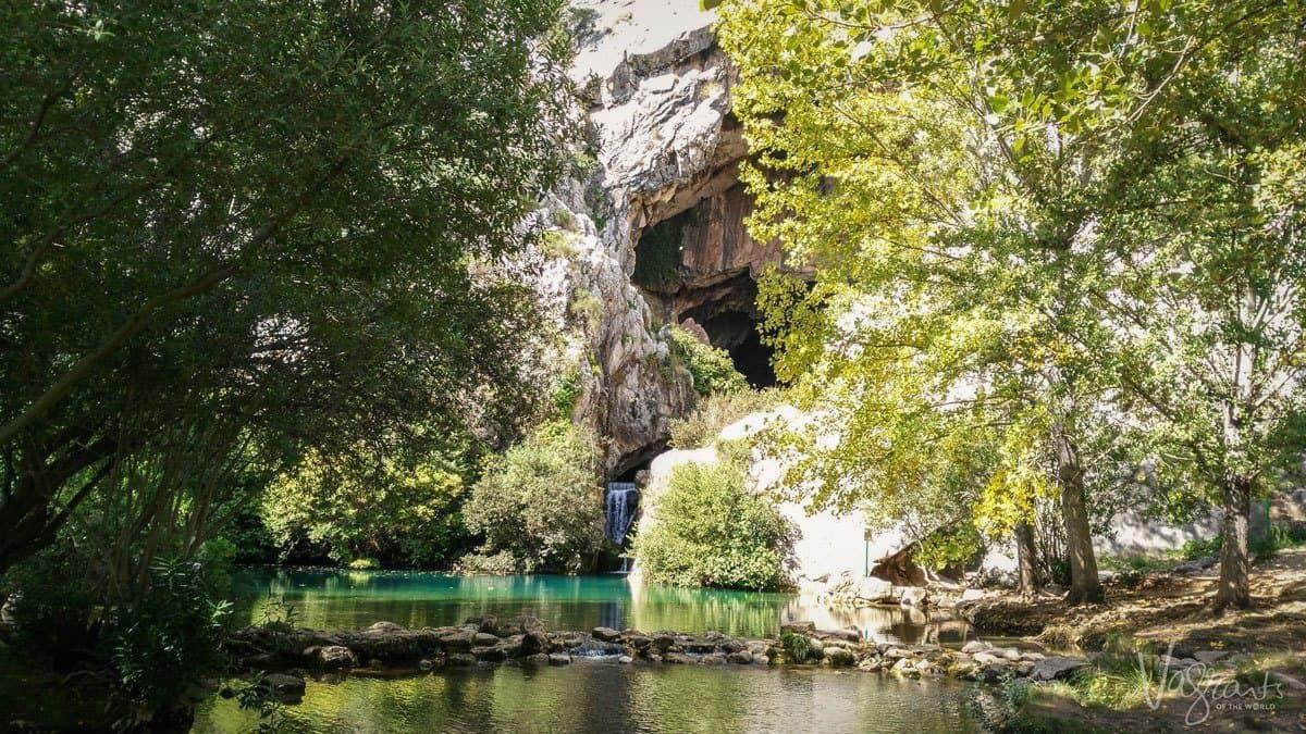 River flowing in the ravine, Rhonda Spain.