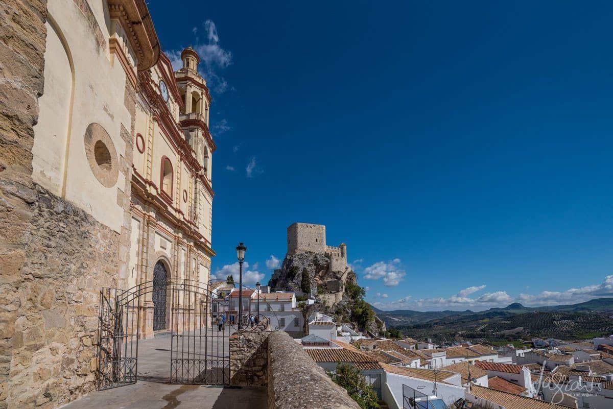 Castle sitting on a rocky nob in Olvera.