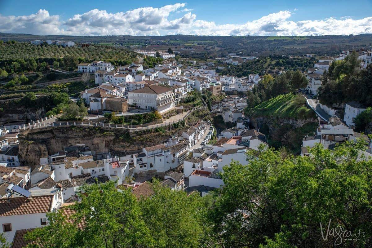 White village in the region of Pueblos Blancos spain.