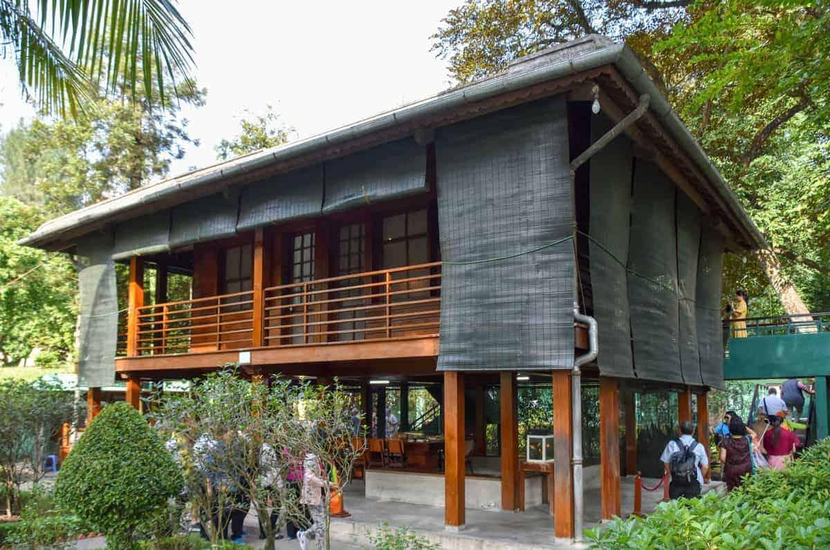 Ho Chi Minh's Stilt House a wooden house on stilts.