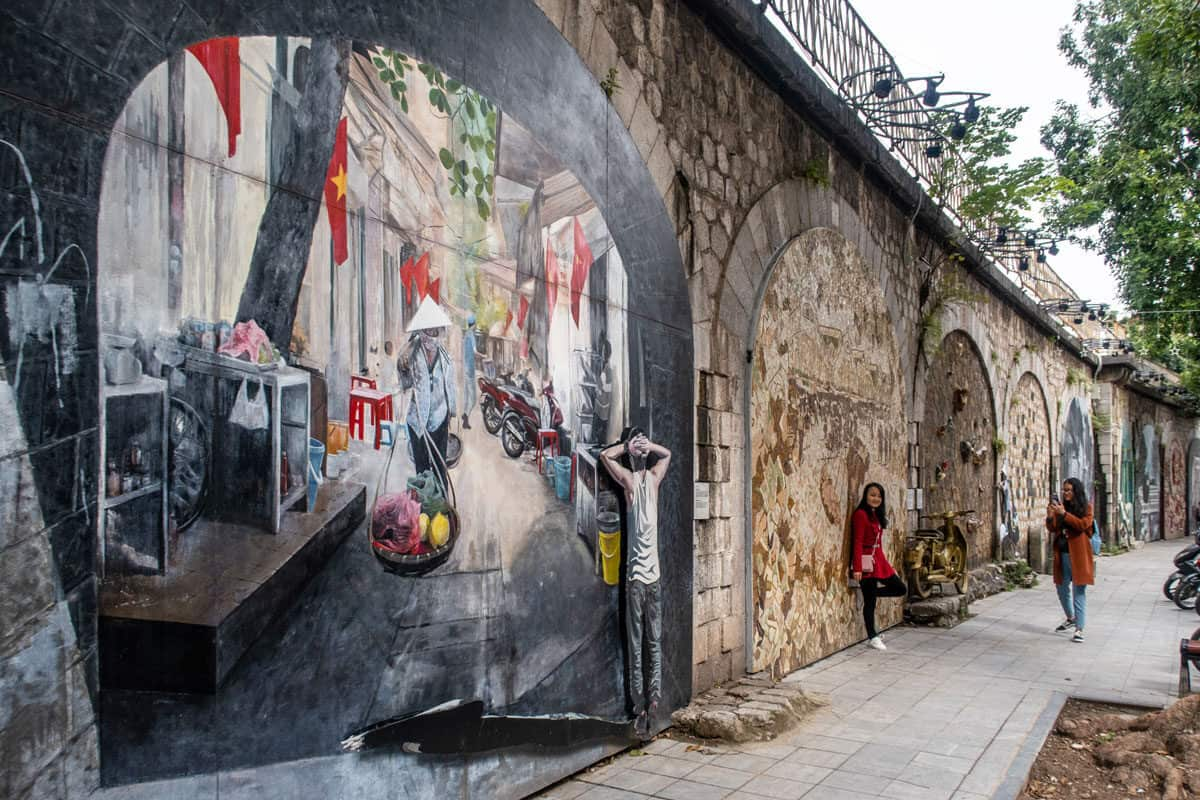 Hanoi's Fresco Street is one of the most exciting new things to see in Hanoi Vietnam