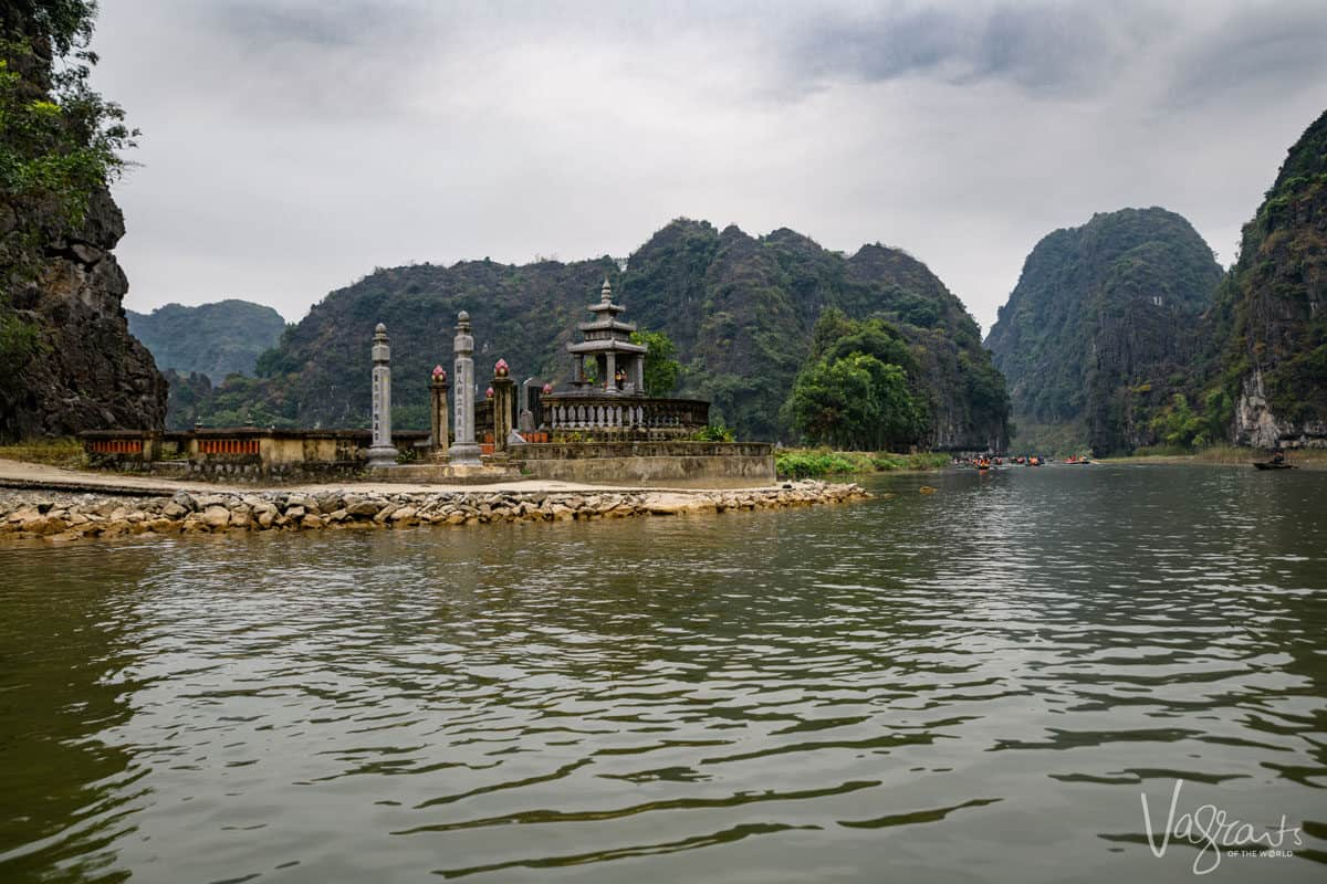 Tam Coc in Ninh Binh on the river is one of the best day trips from Hanoi.