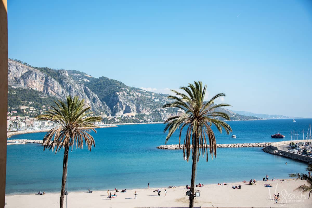 Palm trees and crystal clear blue water make France's beaches a great choice for summer in Europe.