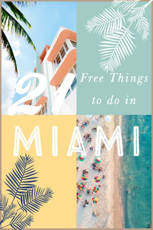 Looking for thing to do for free in Miami? We have 21 fabulous free things to do in Miami #miami #travelguide #usa #miamitravel