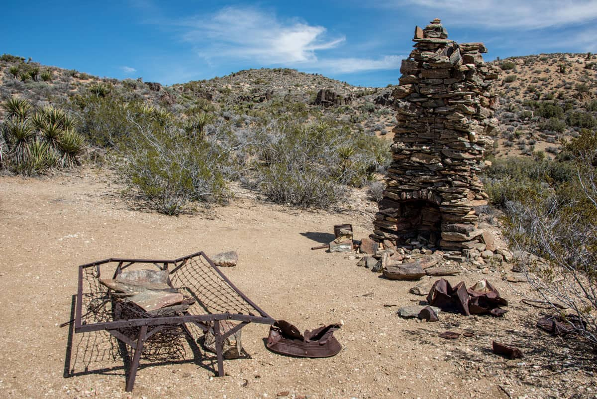 Relics left in the desert from the Lost Horse Mine site. This is one of the most interesting and popular hikes in Joshua Tree National park