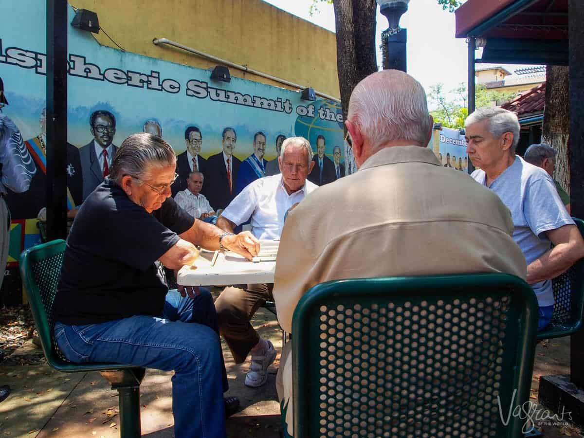 Men playing dominoes in Little Havana Miami