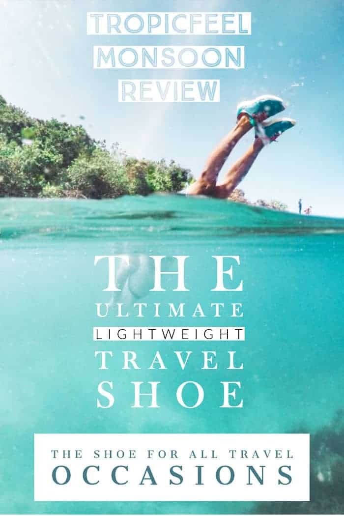 We may have found the best lightweight travel shoe that works for nearly all travel situations. We have tested and reviewed the 4 in 1 travel shoe by Tropicfeel and are pretty impressed. #travelshoes #travelfashion #travelgear