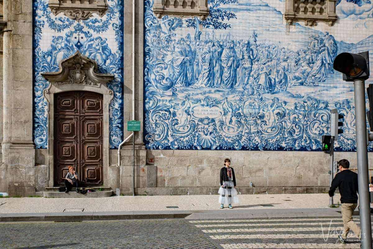 The famous blue tiles of Igreja do Carmo. A must see on 2 days in Porto