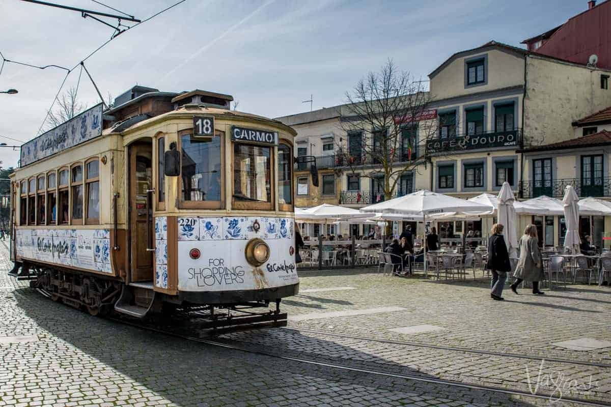 The old trams of Porto are part of the cities charm.