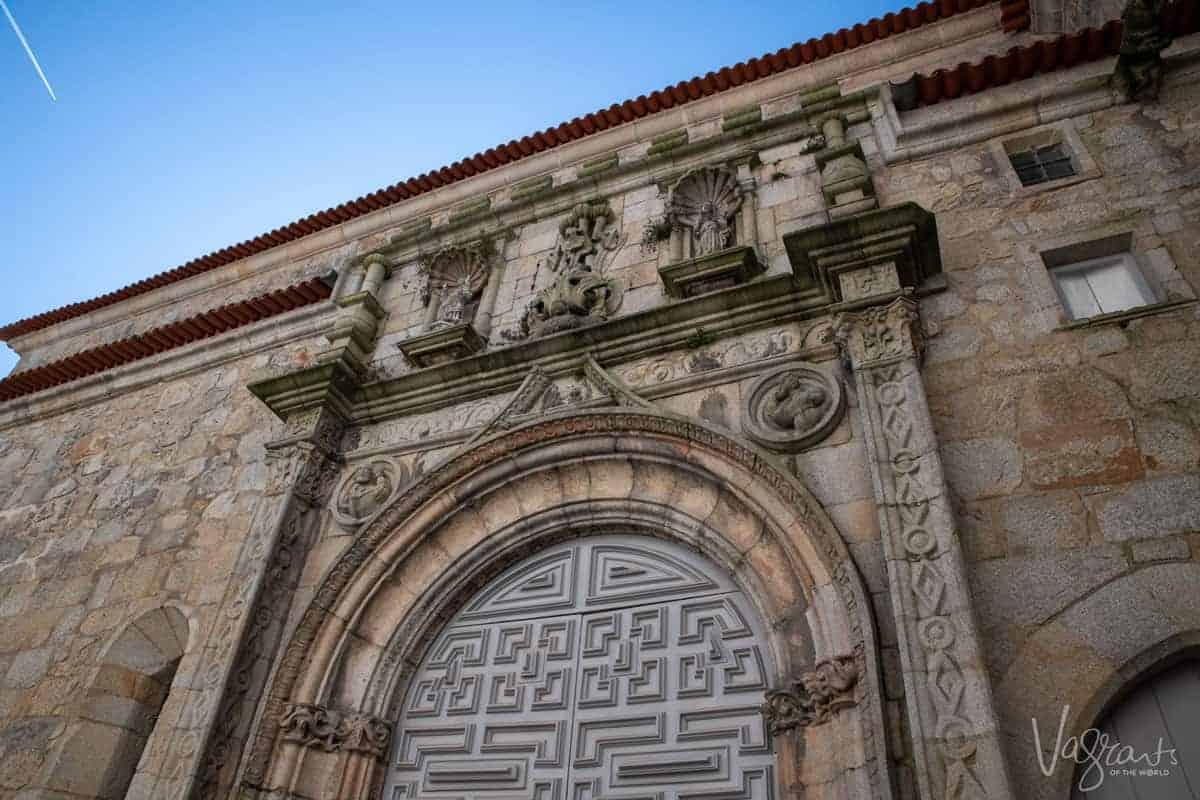 Exterior stone work of Igreja de Santa Clara in Porto