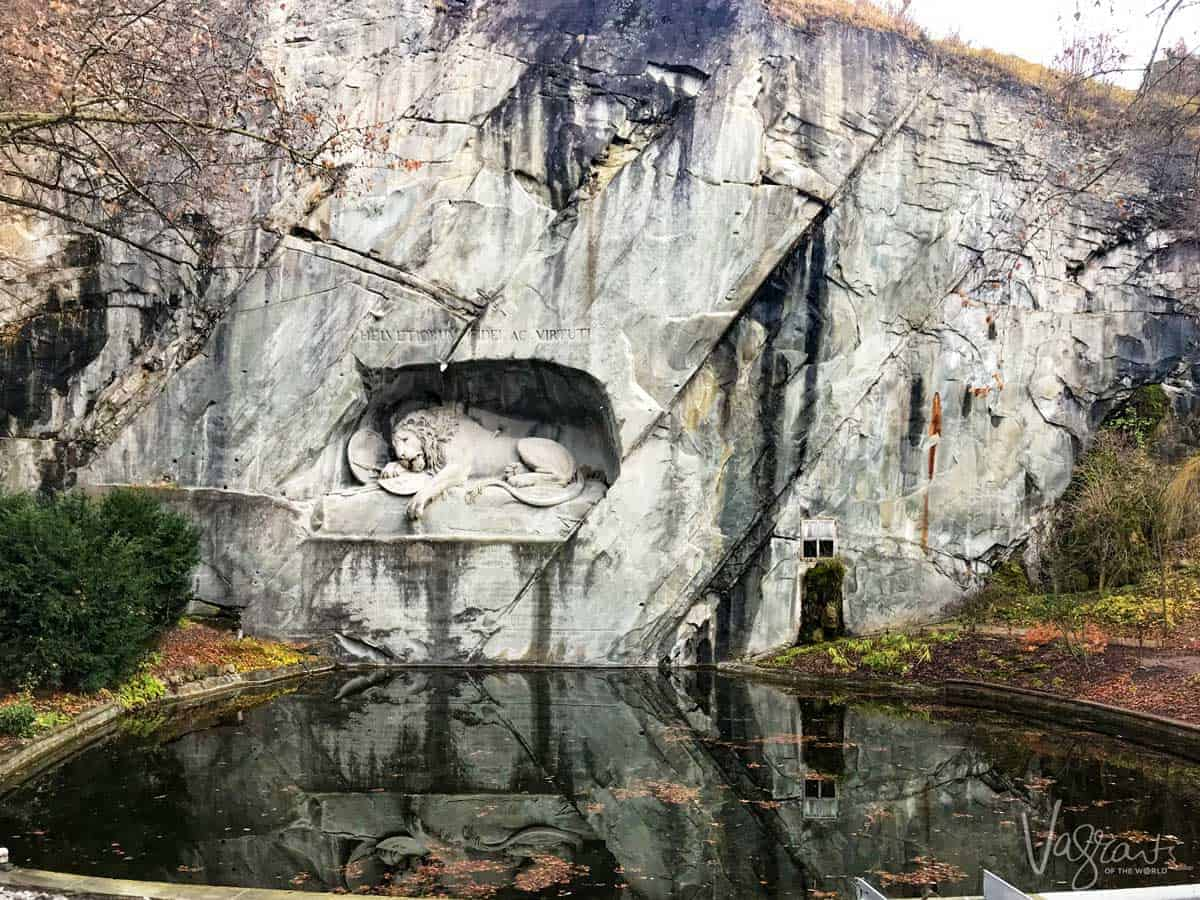 The Lion monument in Lucerne Switzerland