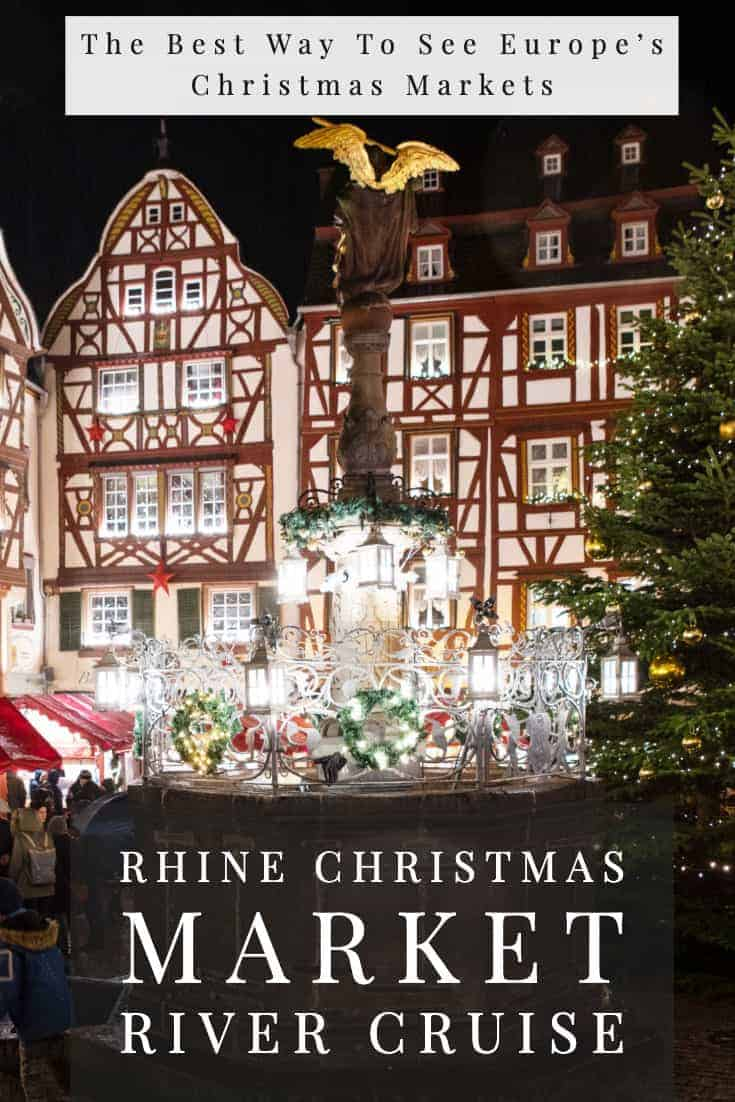 Want to visit the best Christmas markets in Europe? A Rhine Christmas market river cruise will take you to some of the best Christmas Markets in Europe. #rivercruise #christmasmarkets #wintercruises #europe #myvikingjourney #vikingcruises