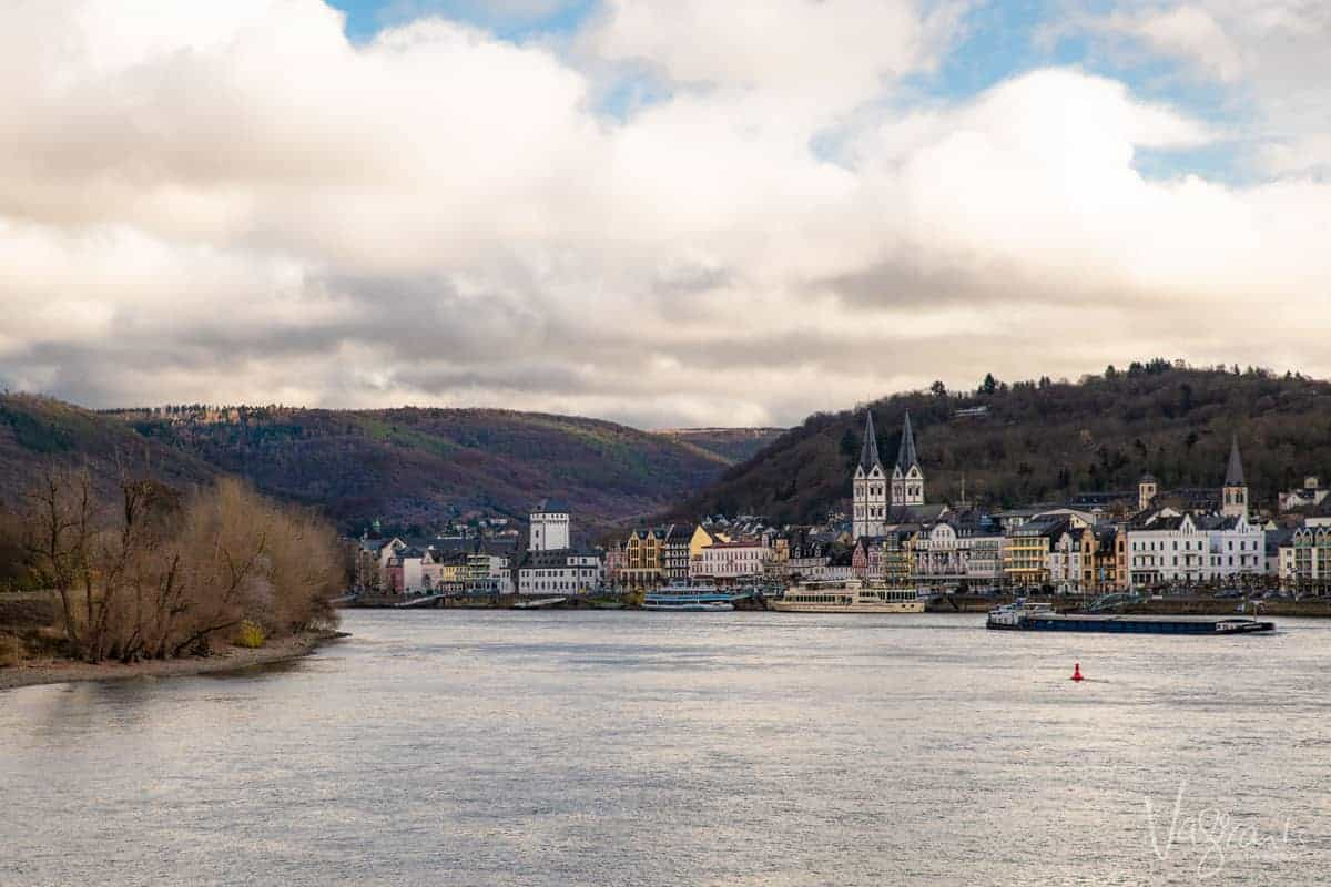 fairytale villages seen along the Middle Rhine in Germany on a winter river cruise from Paris to Switzerland