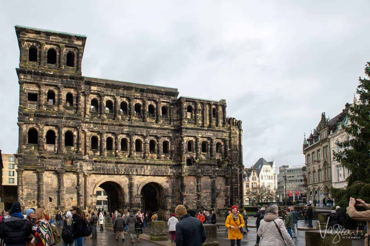 The Porta Nigra Gate in Trier Germany.