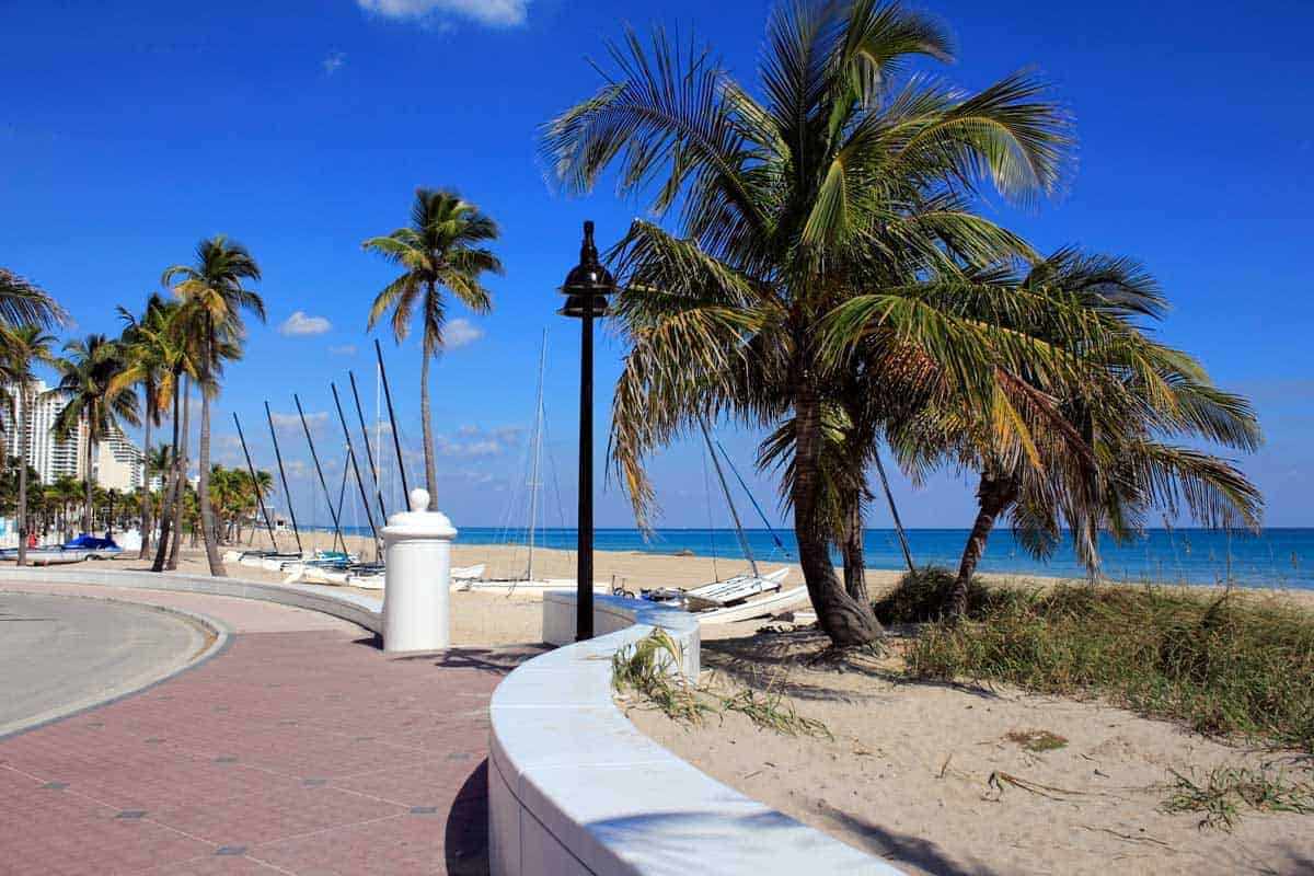 Seafront boardwalk in Fort Lauderdale