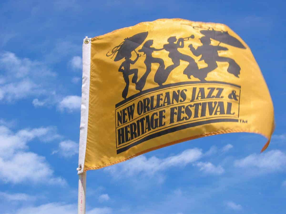 New orleans Jazz and Heritage Festival flag