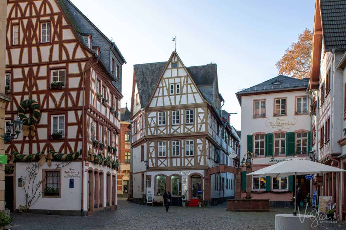 Timber houses in the historical centre of Mainz Germany