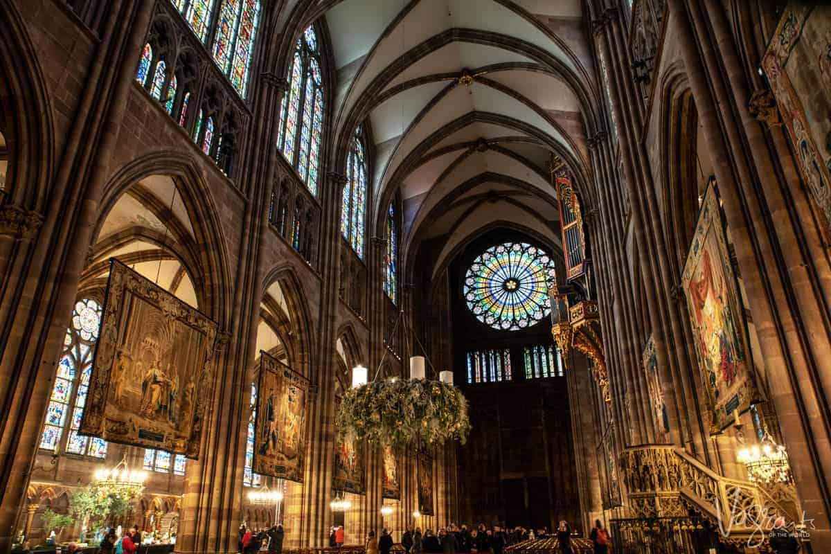 The interior of the Strasbourg Notre Dame Cathedral