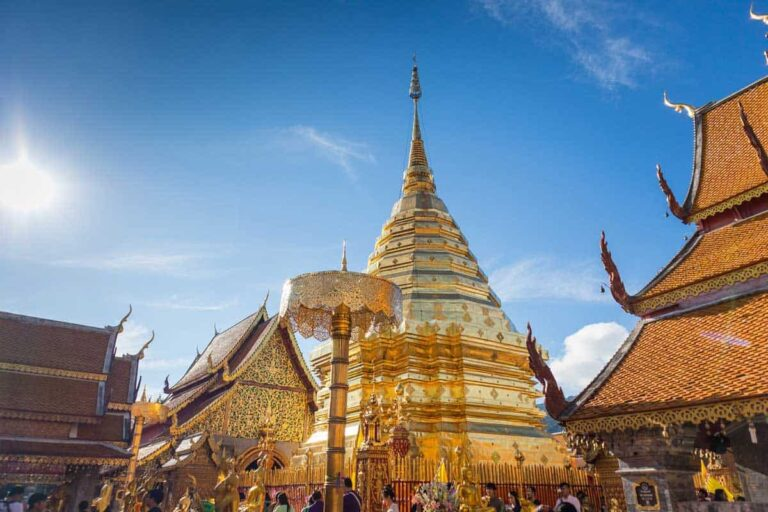 Golden temple in Chiang Mai Thailand.