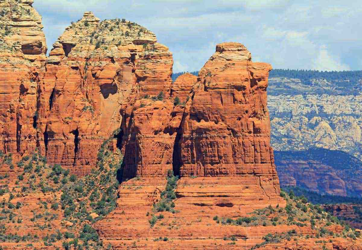 Rocky outcrop known as Coffee Pot Rock in Sedona