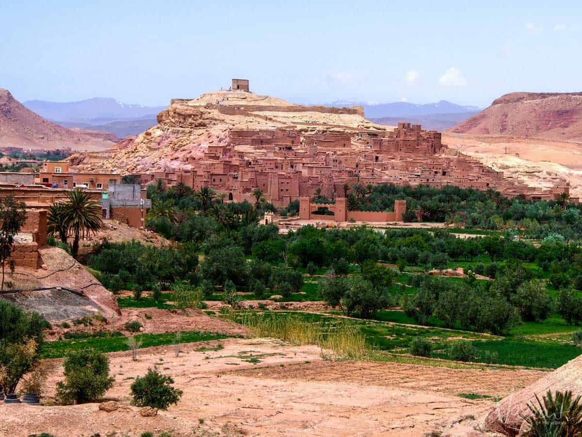 UNESCO listed Kasbah of Ait Benhaddou. The red clay village has been the set of many films and TV series.