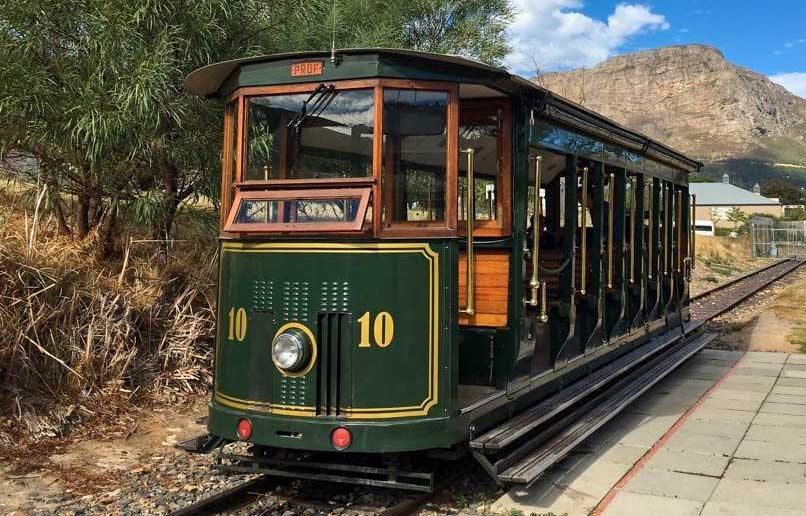 The Franschhoek Wine Tram. Hop on hop off at numerous wineries in one of South Africa's most popular wine regions.
