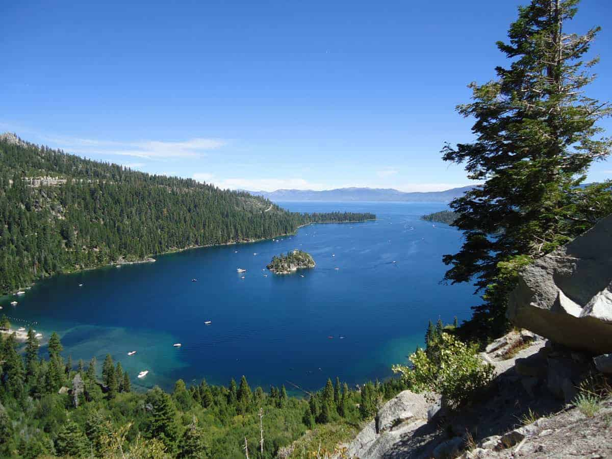 Small island in Lake Tahoe