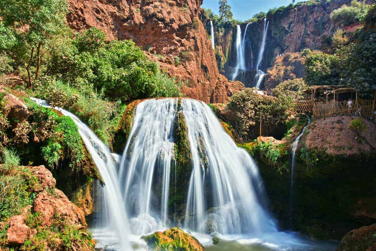 Ouzoud Falls, one of the largest waterfalls in Northern Africa.