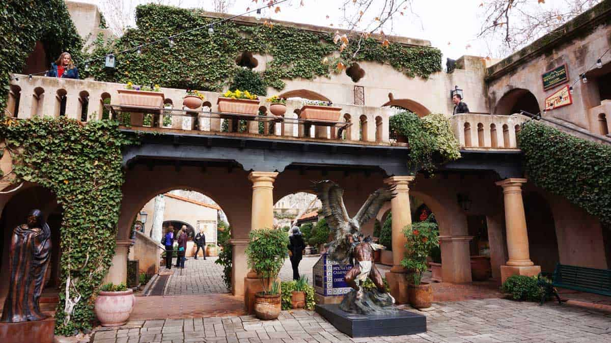 Insed the Mexican style Tlaquepaque Village in Sedona