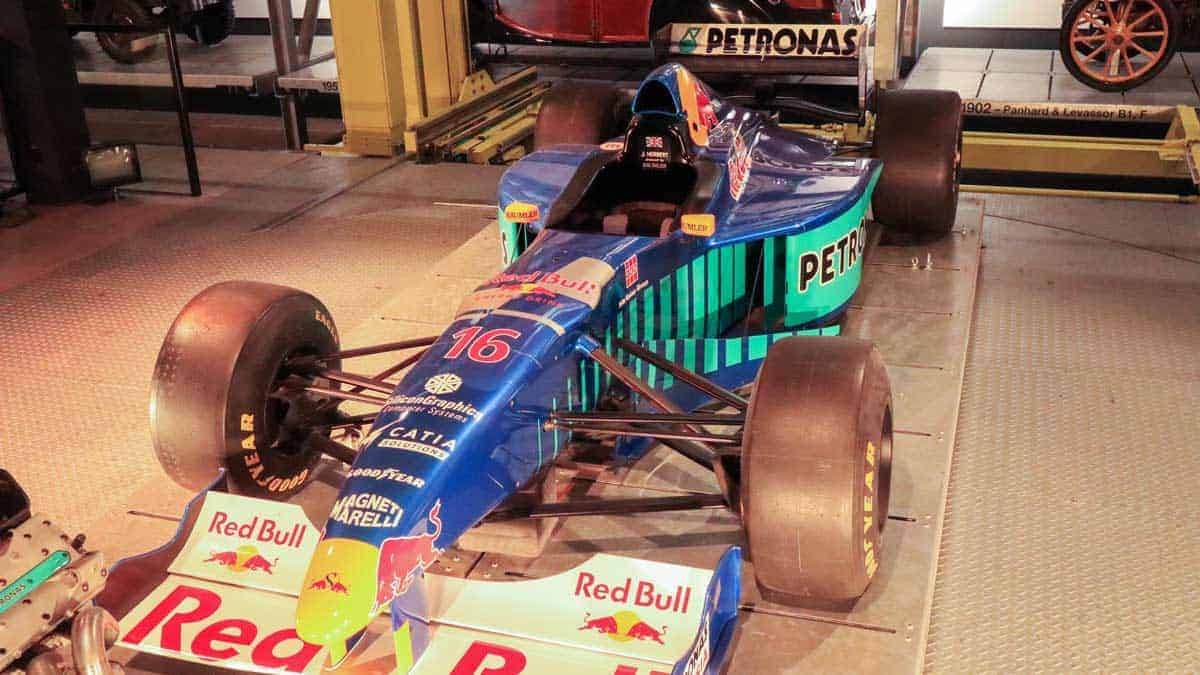 Red Bull Race car in the Swiss Transport Museum