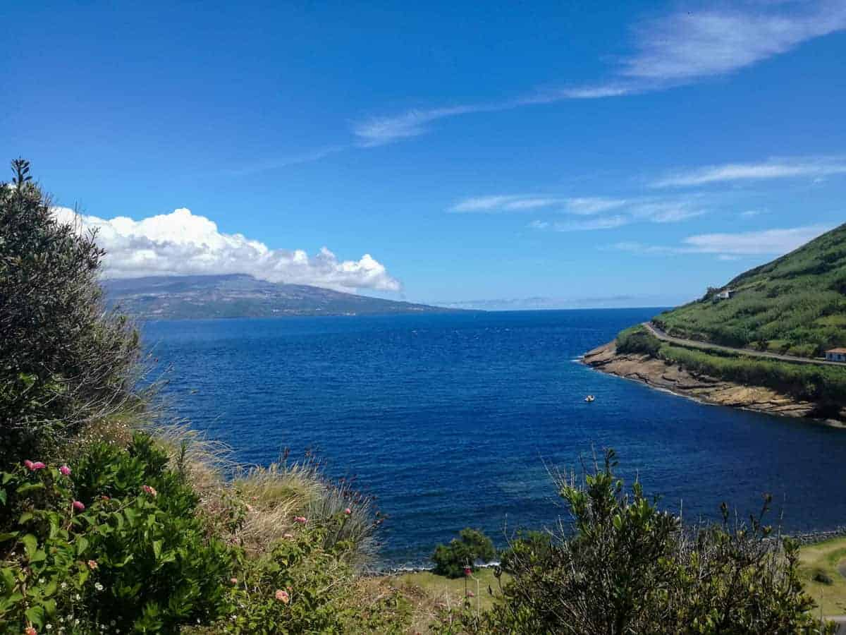 Scenic bay of the Azores islands.