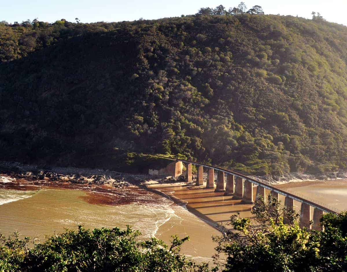 Kaaimans River bridge on the Garden Route in South Africa