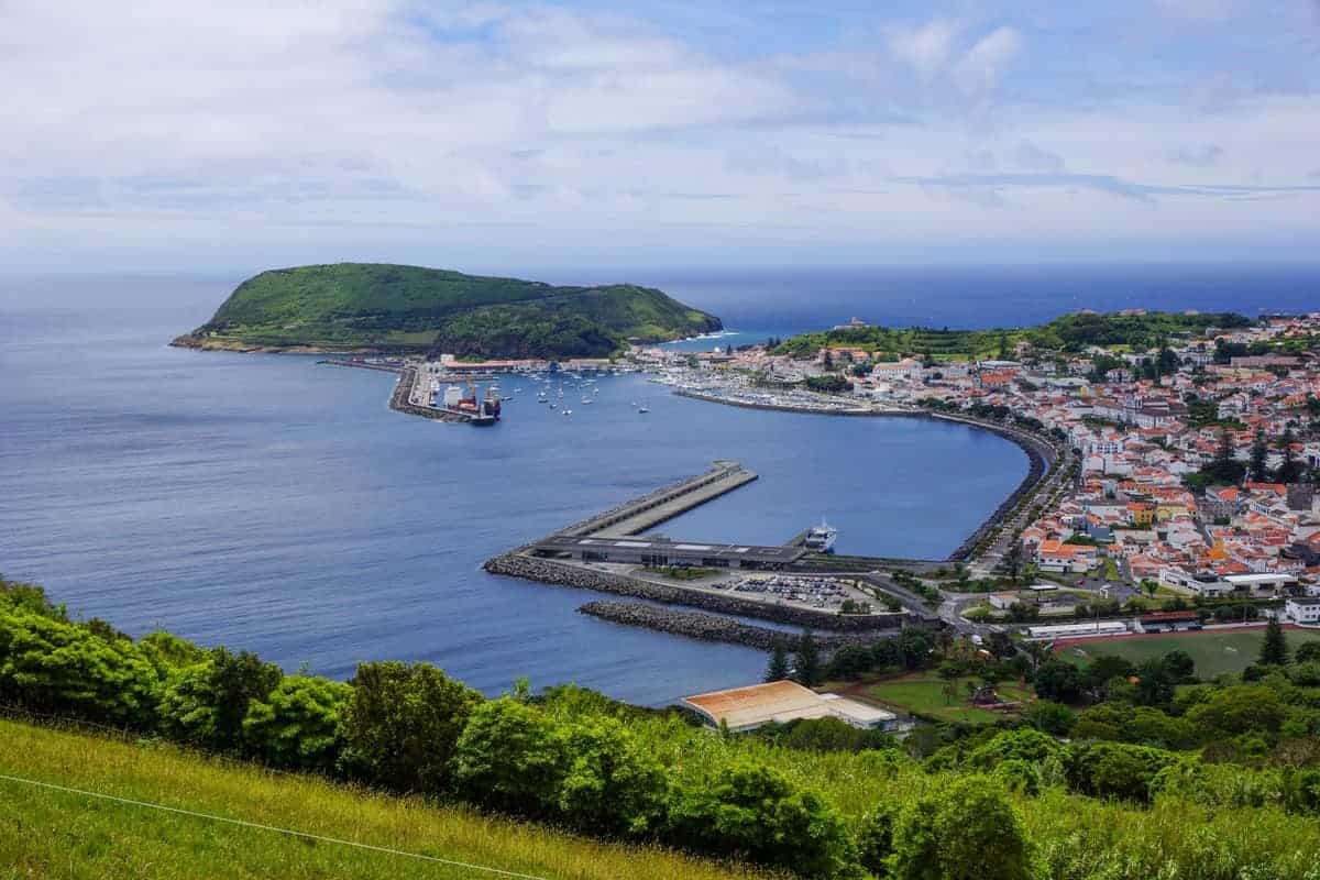 Harbour and village of the Azores