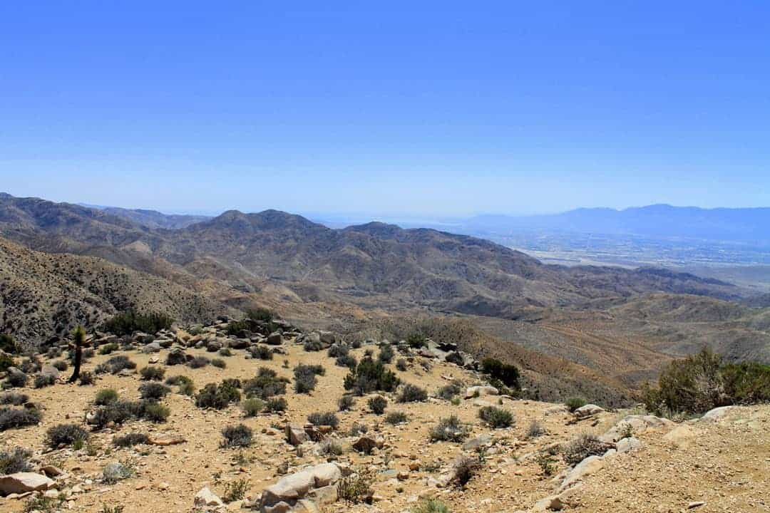 The view from the Keys View Lookout in Joshua Tree NP
