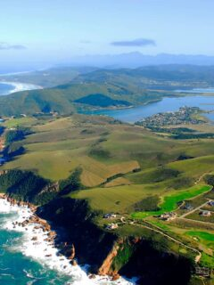 Aerial view of Knysna on the Garden Route in South Africa