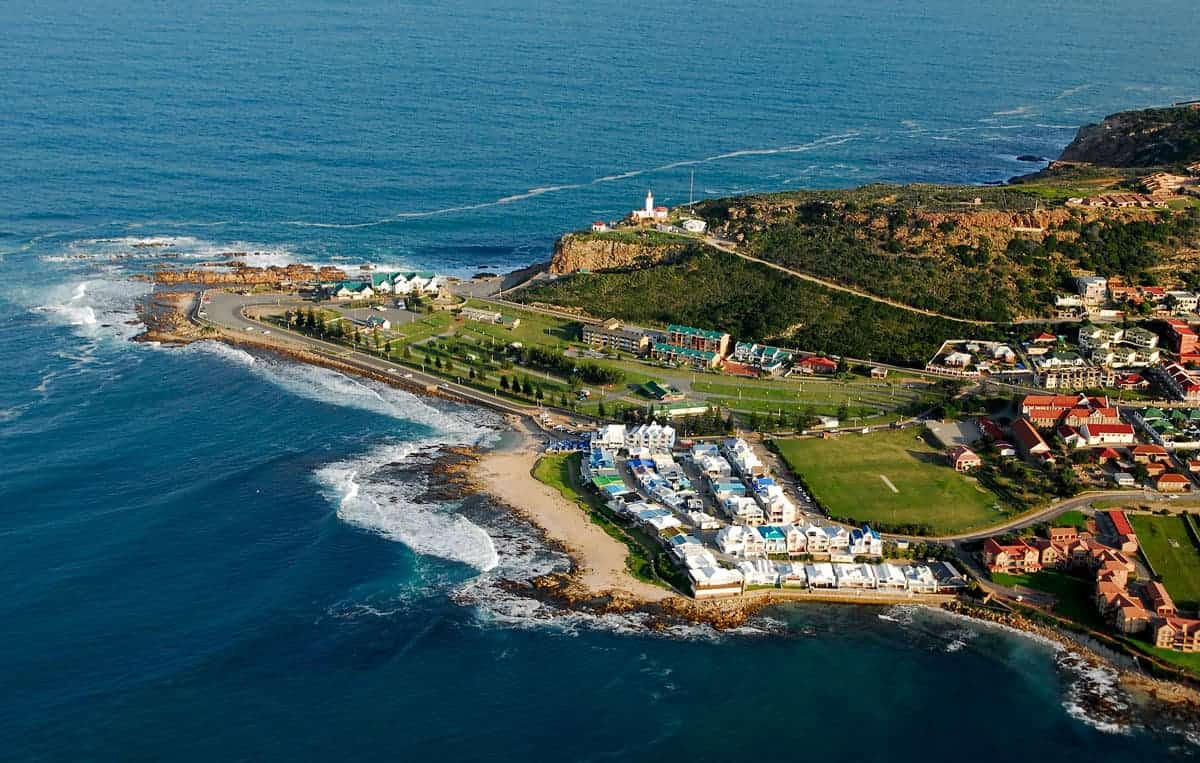 Aerial view of Mossel Bay.