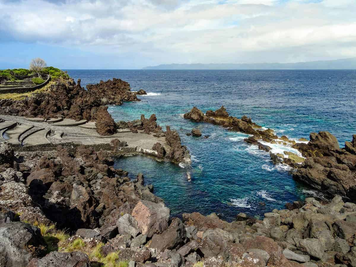 Perfect natural swimming pools amongst the lava coast.