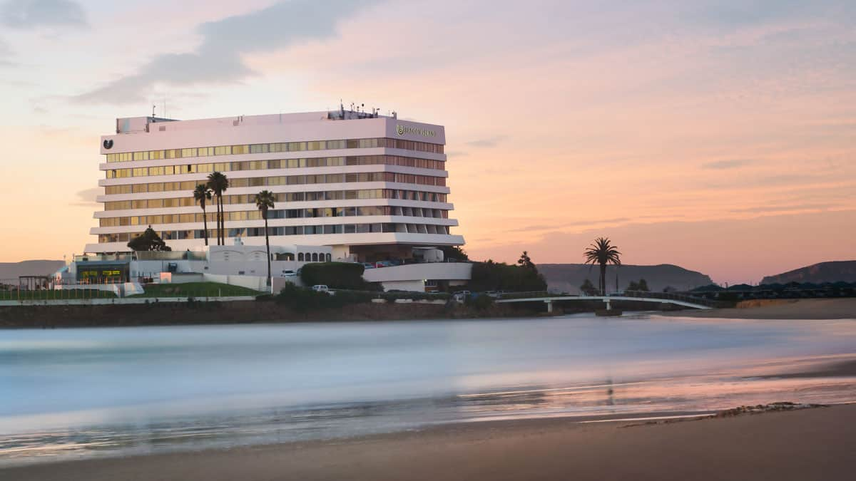 Beacon Island resort at dusk in Plettenberg Bay on the Garden Route in South Africa