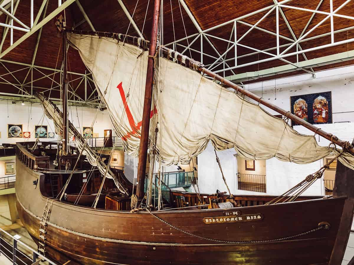 Replica ship in the Dias Museum in Mossel Bay South Africa