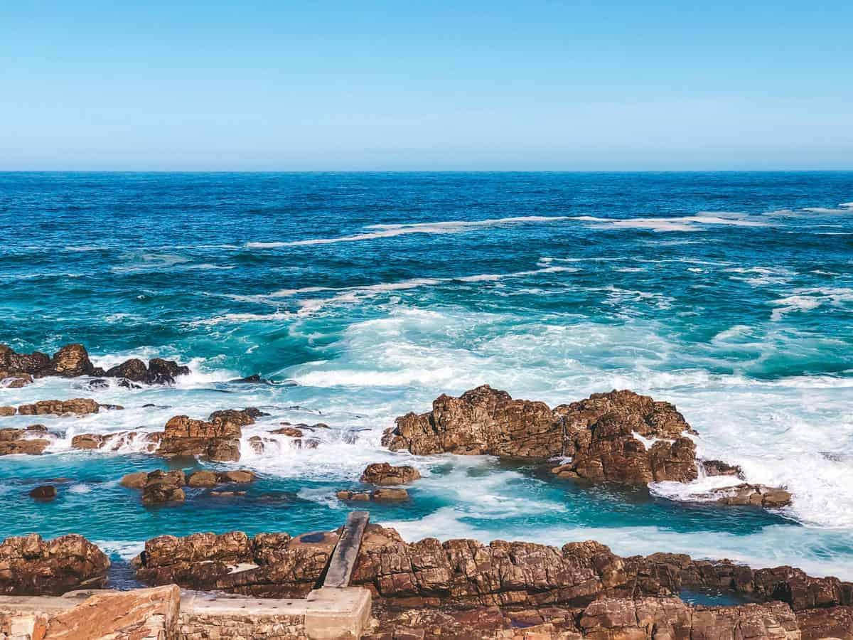 Rocky coastline Mossel Bay.