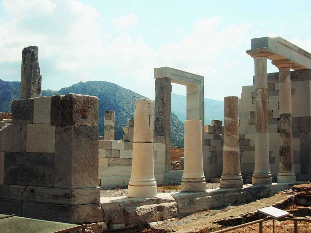 Pillars of Delos on Mykonos.