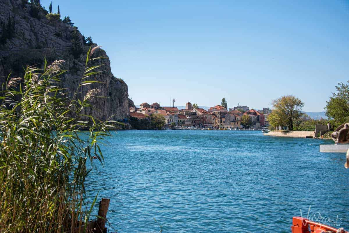 The river leading down to the lovely pirate village of Omis.