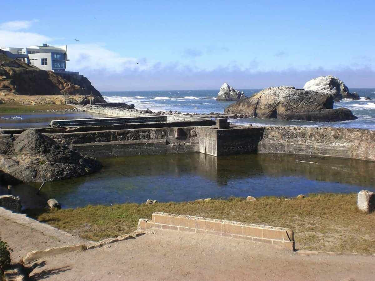 Rugged coastline and the ruins of Sutro Baths