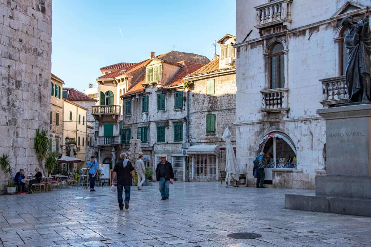The stone avenues and old stone architecture of Split.