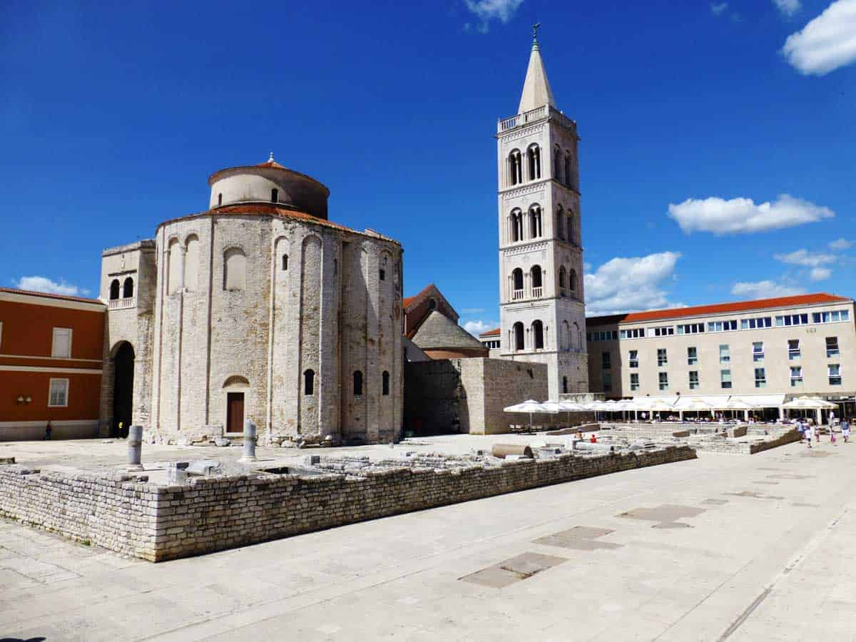 Ruins in the centre of old town Zadar.