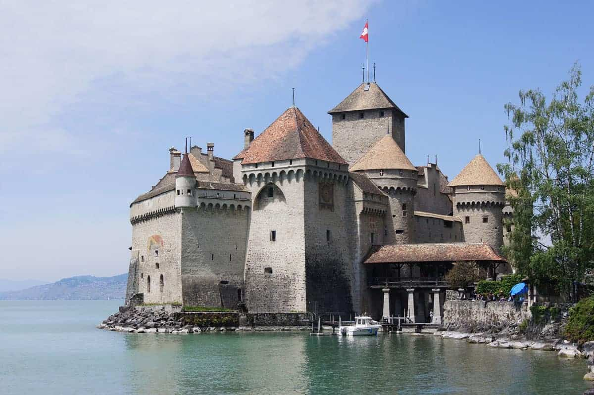 Chillon castle on the lake